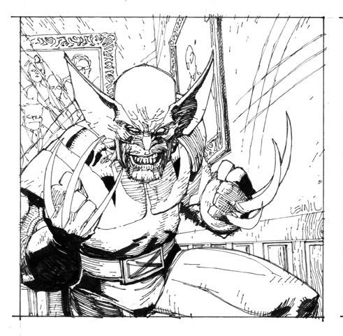 Wolvie Black and white