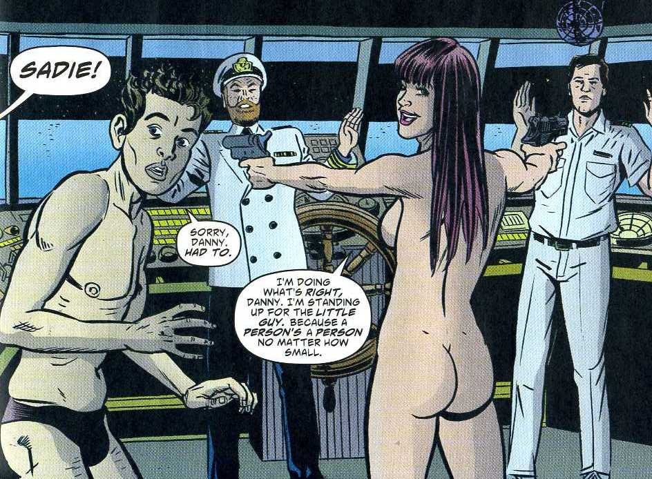 Sadie Takes Over A Cruise Liner At Gunpoint In The Nude