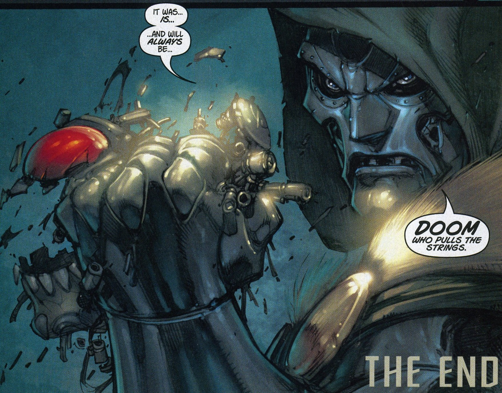 Ultron s face crushed Ultimate Fantastic Four Dr Doom